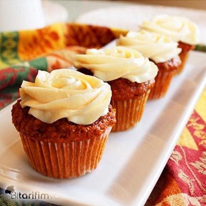 Havuçlu Krem Peynirli Cupcake Tarifi