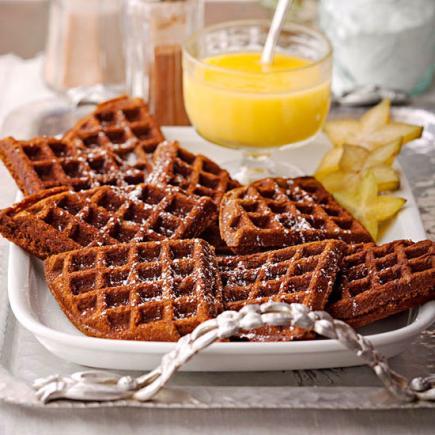 Limon Soslu Waffle